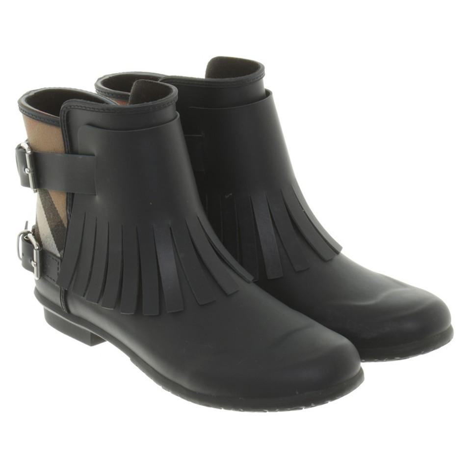 Rubberen Schoudertassen : Burberry rubberen laarzen in blauw koop tweedehands