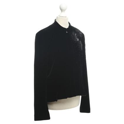 Armani Collezioni Velvet Blazer in Black