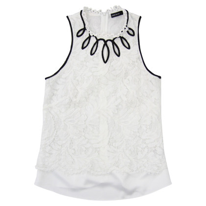 Karen Millen Lace top in white