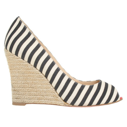 Christian Louboutin Wedges with striped pattern