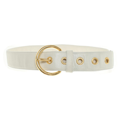 Miu Miu Leather belt in cream white