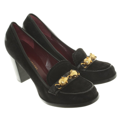 Marc Jacobs Wildlederpumps in Schwarz