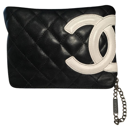 Chanel Leather bag in black / white