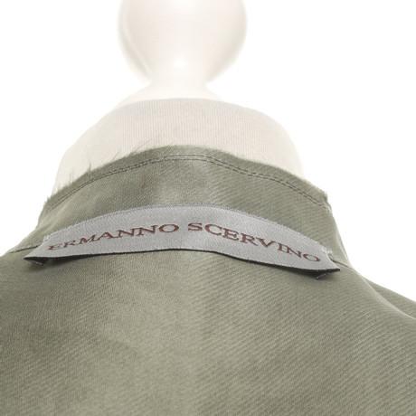 Seide Weste Scervino aus Ermanno Ermanno Khaki Scervino RXwgWx