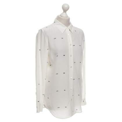 Equipment Zijden blouse Offwhite