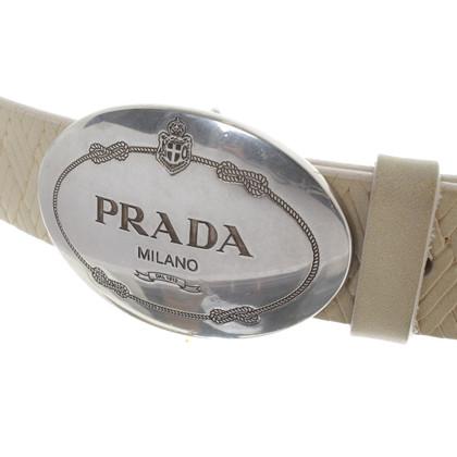 Prada Belt with Wicker-look