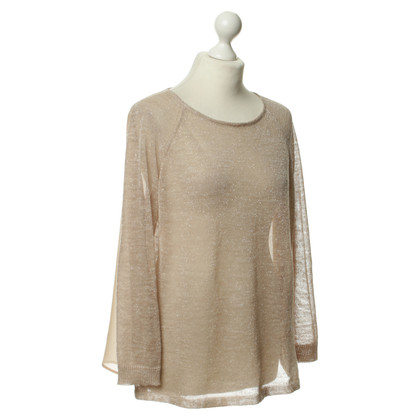 Hoss Intropia Rosé pullover with metallic effects