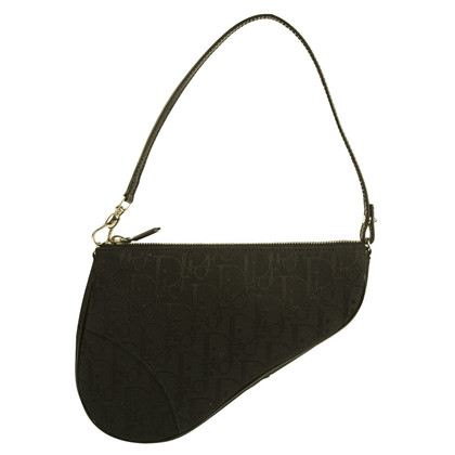 Christian Dior zwart monogram mini Saddle Bag