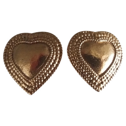 Yves Saint Laurent Earrings Heart vintage.