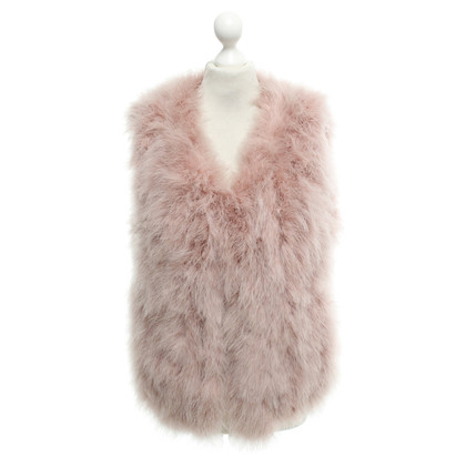 Marc Cain Feather vest in rose