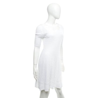 Missoni Gebreide jurk in wit