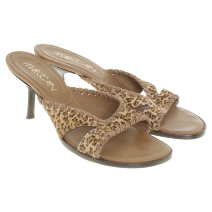 Marc Cain Sandals with leopard print