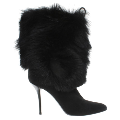 Helmut Lang Black fur boot