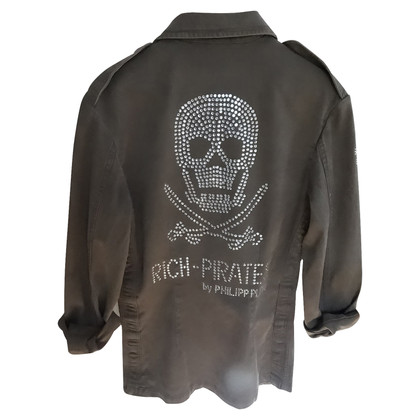 Philipp Plein Denim jacket with rhinestone