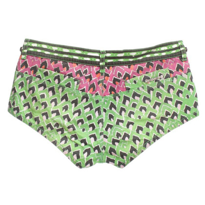 Roberto Cavalli Short shorts with colorful pattern