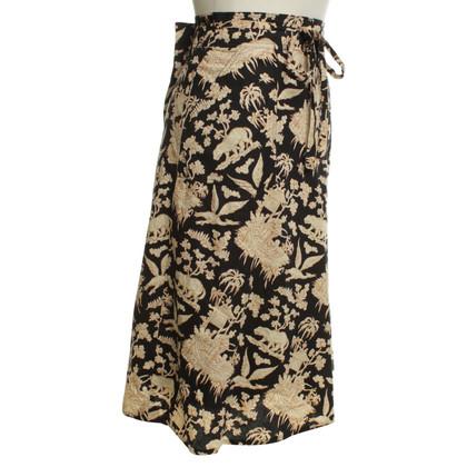 Cacharel Wrap-around skirt with pattern print