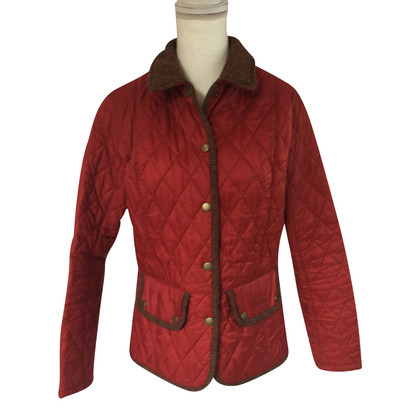 Barbour Quilted Jacket in red