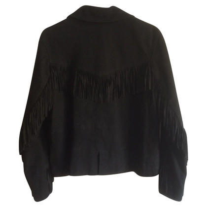 Bash Suede jacket with fringe