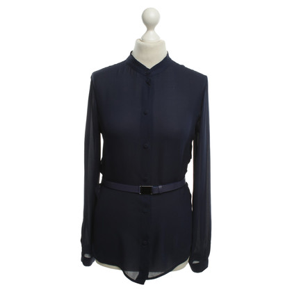 Armani Zijden blouse in Blauw