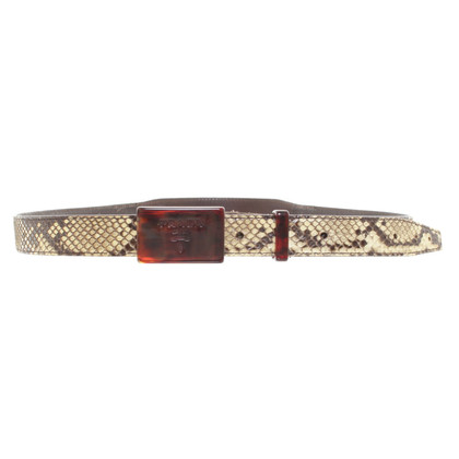 Prada Snake leather belt