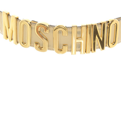 Moschino Belt with golden letters