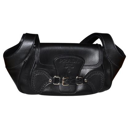 Prada black leather bag