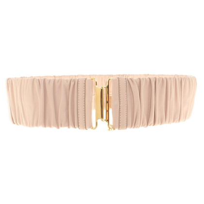 Miu Miu Elastic belt with gathering