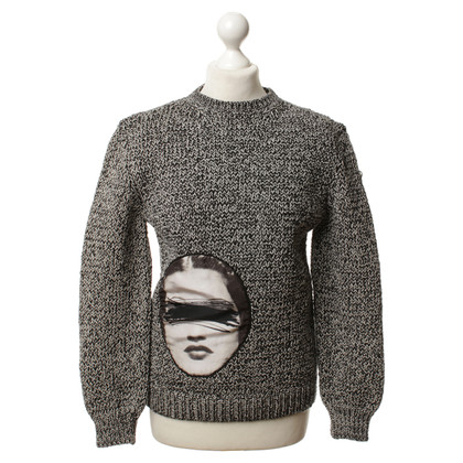 Carven Knit sweater in black/white