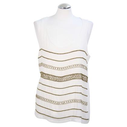 Ralph Lauren Sequin top in white