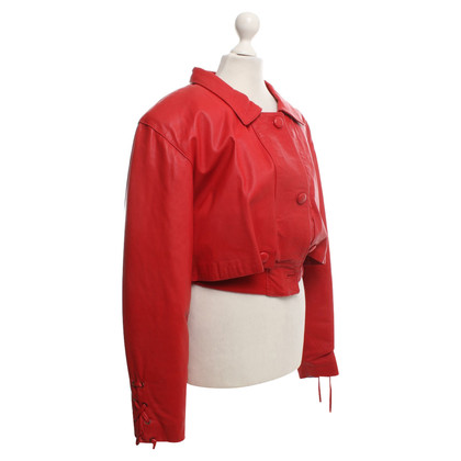 Moschino Leather jacket in red