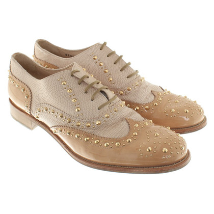 Baldinini Leather shoes with application