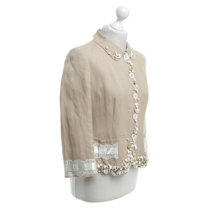 Rena Lange Jacket with shell decor
