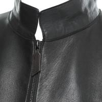Akris Giacca in pelle in Black
