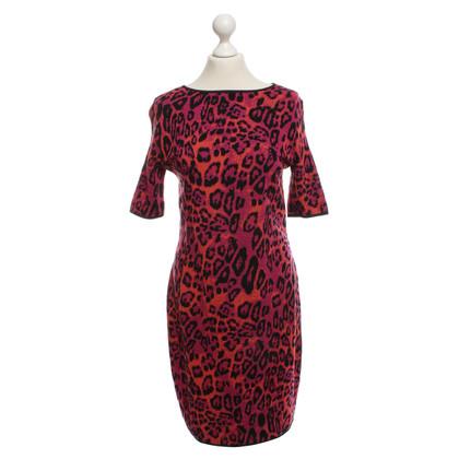 Marc Cain Gebreide jurk met luipaardprint