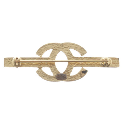 Chanel Broche couleur or