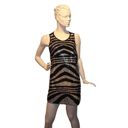 Pierre Balmain Sequined dress in black / silver