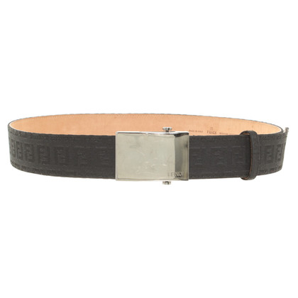 Fendi Leather belt with pattern