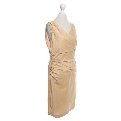 René Lezard Camelfarbenes Kleid