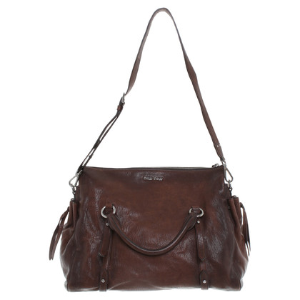 Miu Miu Ledershopper Brown