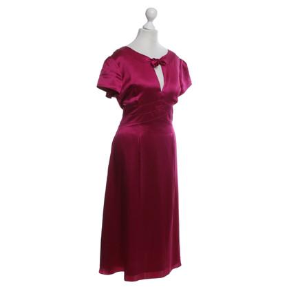 Hobbs zijden jurk in Fuchsia