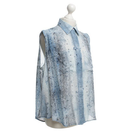 Markus Lupfer Silk blouse with reptile print