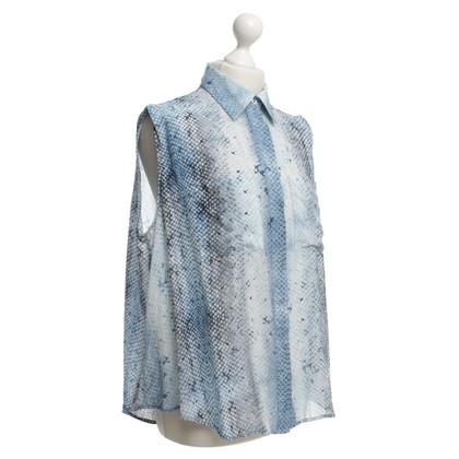 Markus Lupfer Zijden blouse met reptiel druk