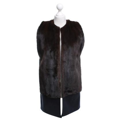 Other Designer Inès & Maréchal - vest with beaver fur