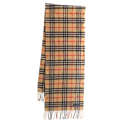 Burberry Wool scarf with tartan