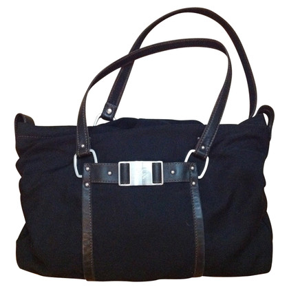 Fay Black bag fabric and leather