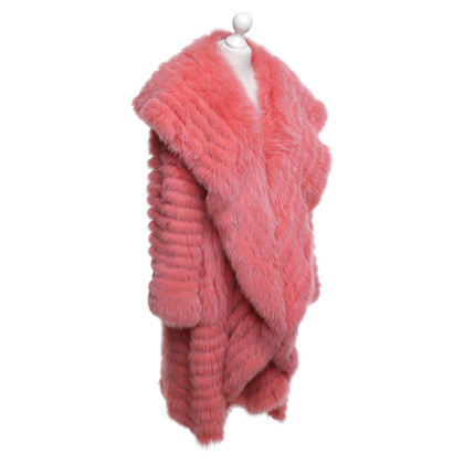Escada Fox fur coat in pink