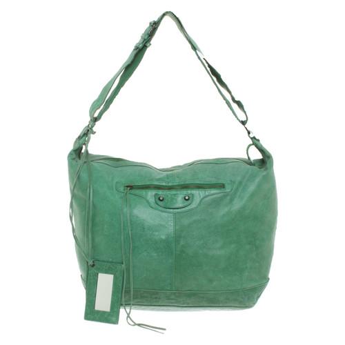 834e0c9efea Balenciaga Shoulder bag Leather in Green - Second Hand Balenciaga ...