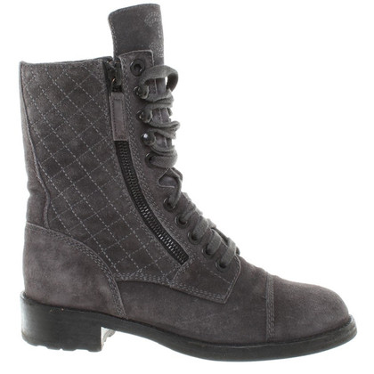 Chanel Boots in Dark Grey