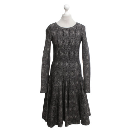 Alaïa Knit dress in black and white
