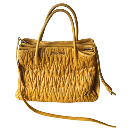 Miu Miu Leather handbag in yellow